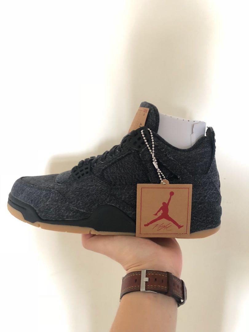61efe8d84d9 Nike Air Jordan 4 x Levi's, Men's Fashion, Footwear, Sneakers on ...