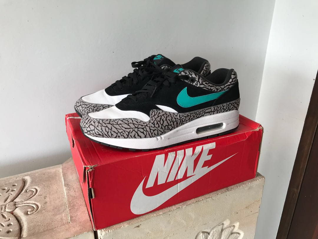 """newest collection 1320b ed9dc Nike Airmax 1 Atmos """"Elephant"""", Men s Fashion, Footwear, Sneakers on ..."""