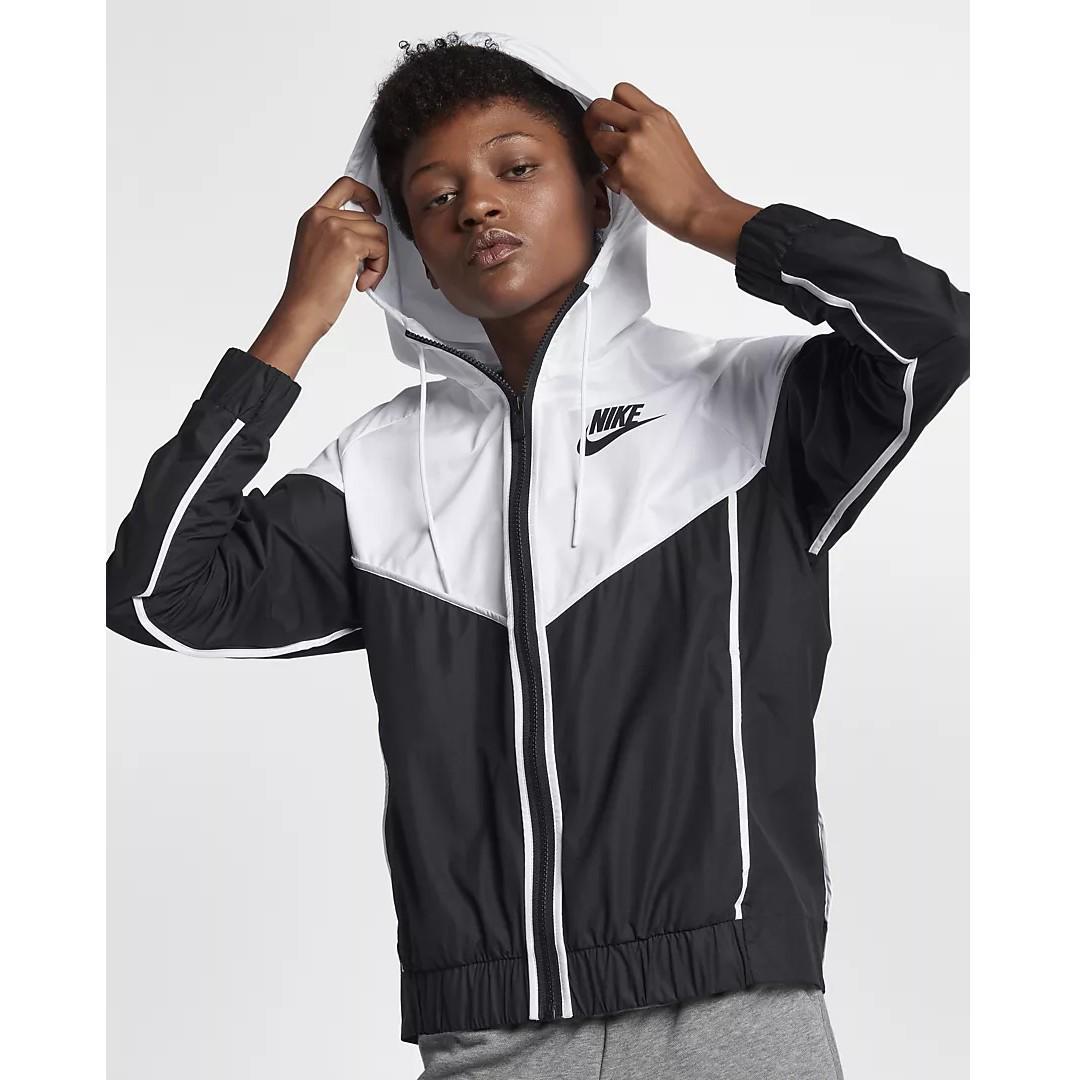 Nike Sportswear Windrunner Women's Jacket(BlackWhiteBlack