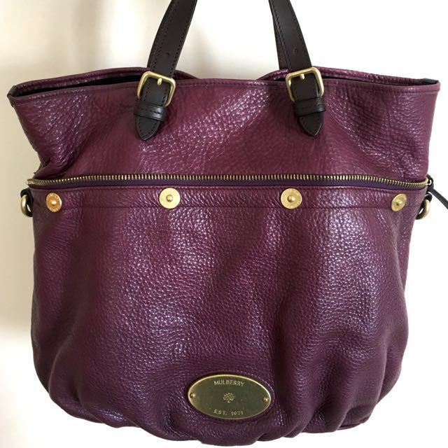 163338ee05f ... italy original mulberry mitzy tote eggplant luxury bags wallets on  carousell 7e228 a1a78 ...