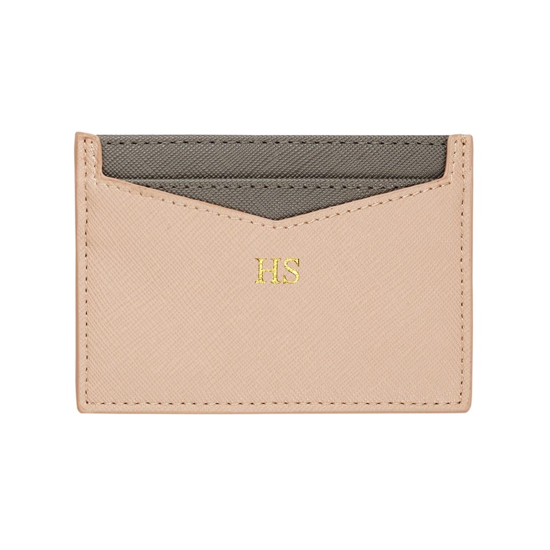 🎄Personalised Leather Goods with Initials/Names - Nude