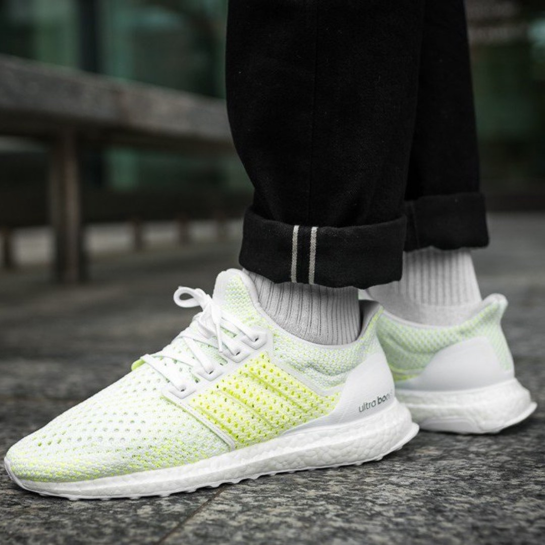 bca15f862adf7 (PO) Adidas Mens Ultra Boost 4.0 Climacool White Lemon