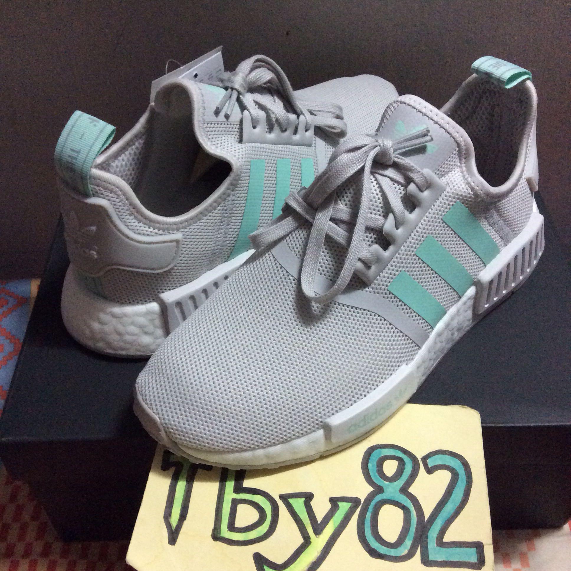 PO) Adidas NMD R1 Jr Grey Mint Green, Bulletin Board