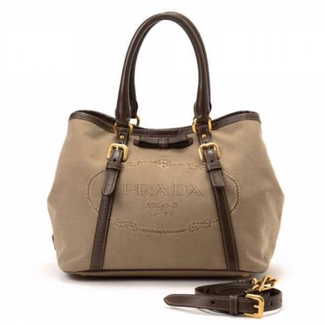e5001c0a69 discount prada jacquard tote bag 15502 a9fe6  spain prada jacquard logo two  way bag womens fashion bags wallets on carousell 30086 7426e