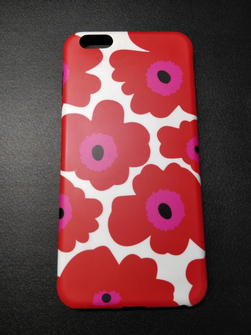 best sneakers 8e8f4 fdd19 Red Marimekko Unikko floral iphone 6/6s plus phone case 電話殼