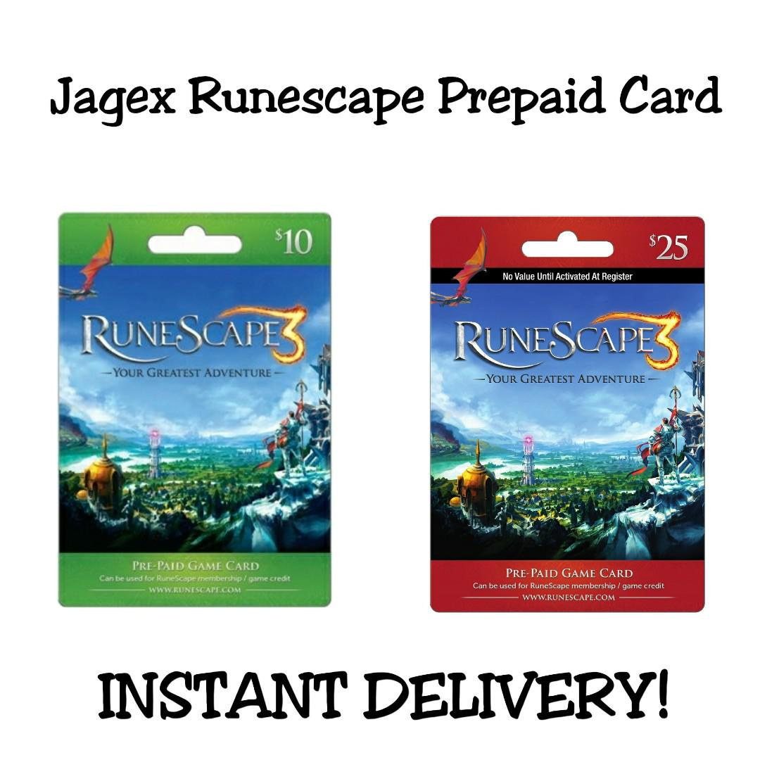 RuneScape Jagex Prepaid Card!, Toys & Games, Video Gaming