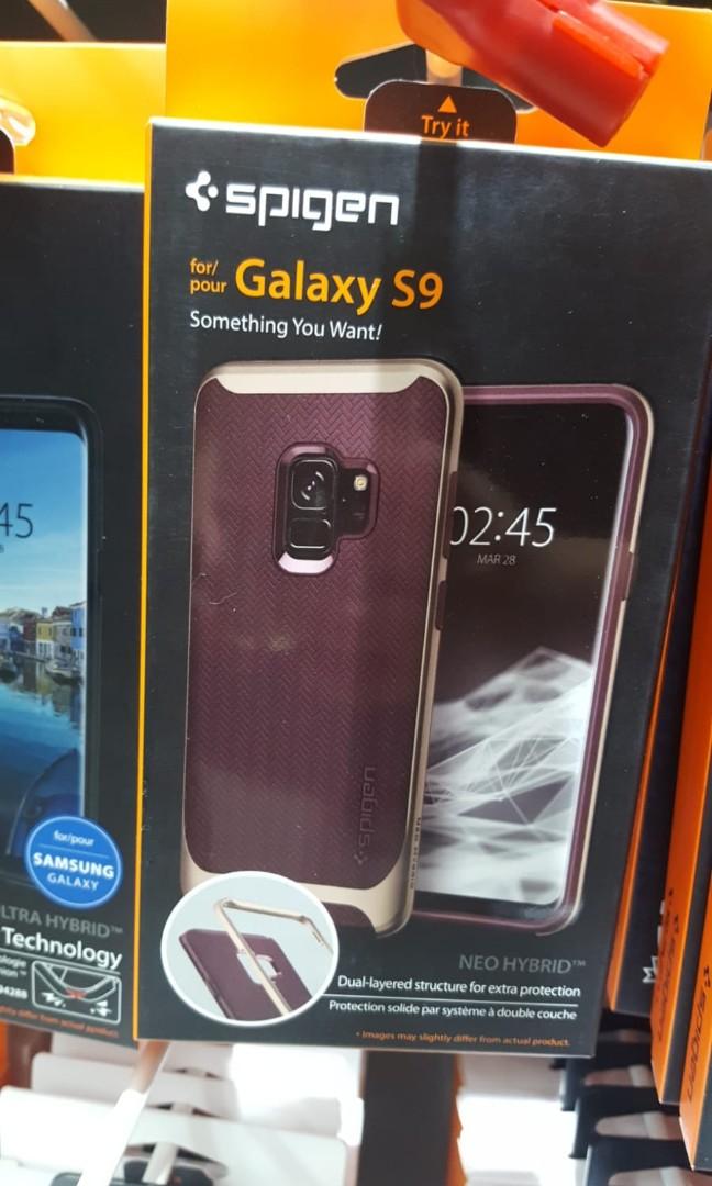 outlet store 5bce8 839d9 Spigen Neo Hybrid Herringbone Galaxy S9 case, burgundy