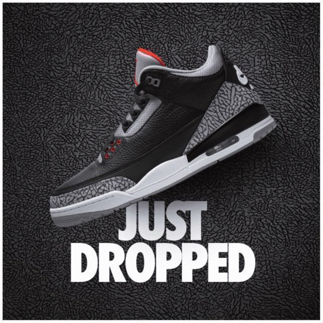 "more photos f7828 98374 The Air Jordan III OG RETRO"" Black Cement "" COLLECTORS ITEM LIMITED ..."