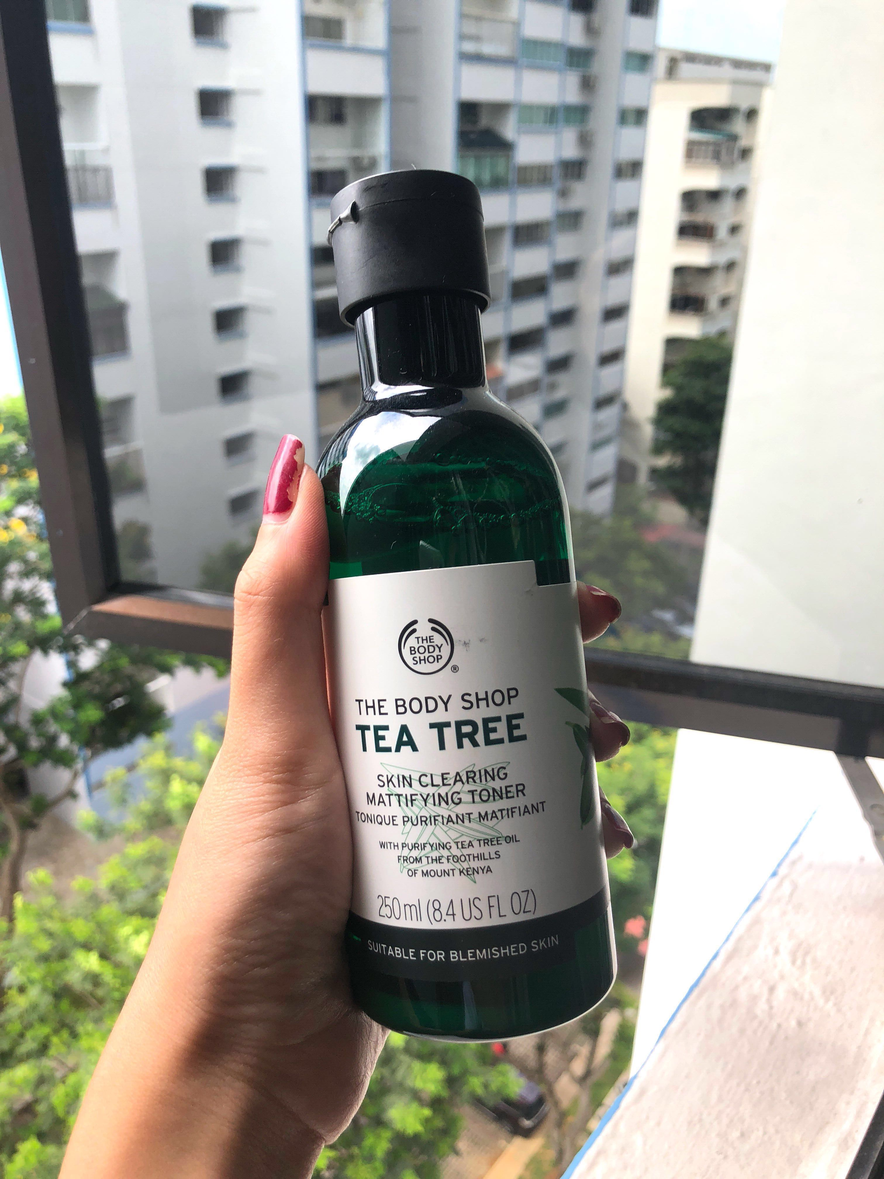The Body Shop Tea Tree Mattifying Toner Health Beauty Face Oil 10ml Skin Care On Carousell