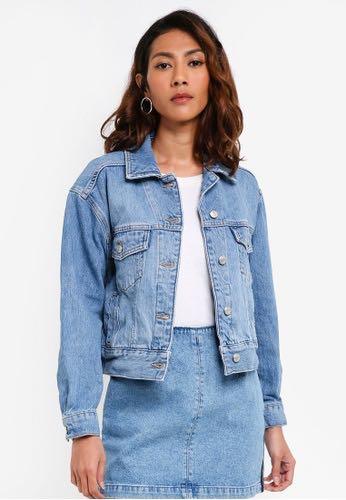 6009ab3c5f0ed Topshop oversized denim jacket