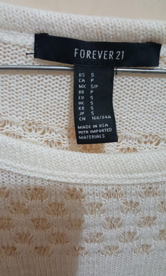 white sweater sz 8