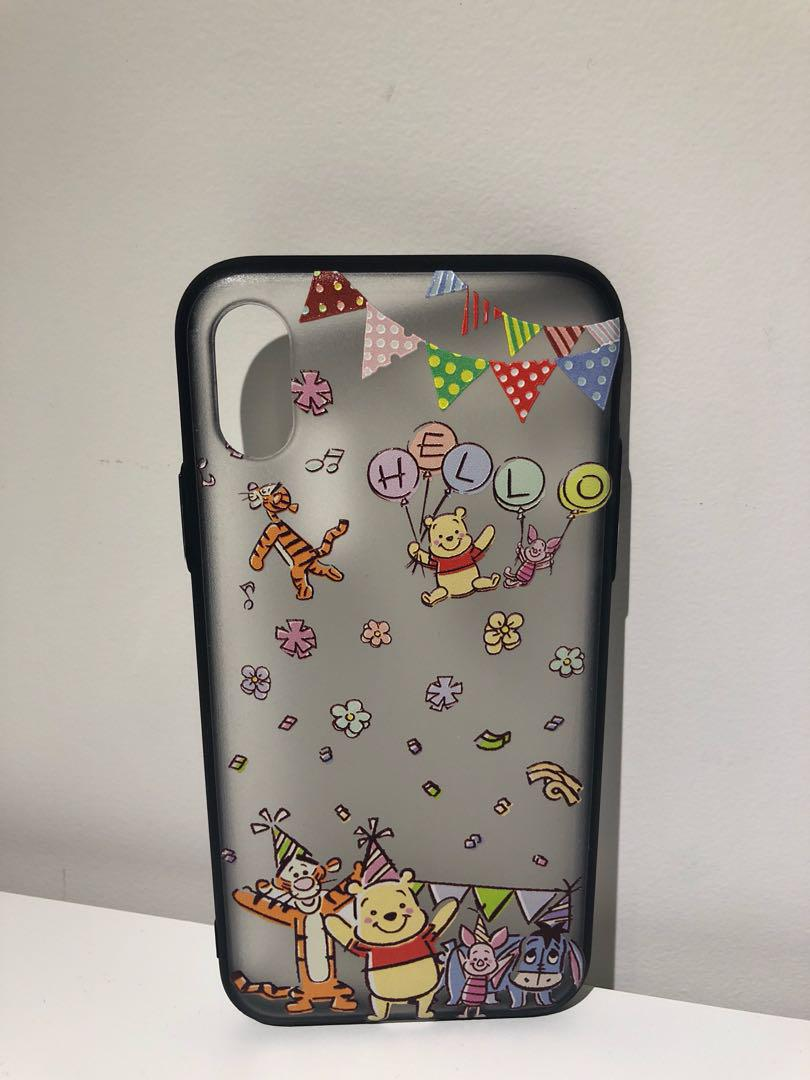 Winnie the pooh iphone X phone case (90%new)
