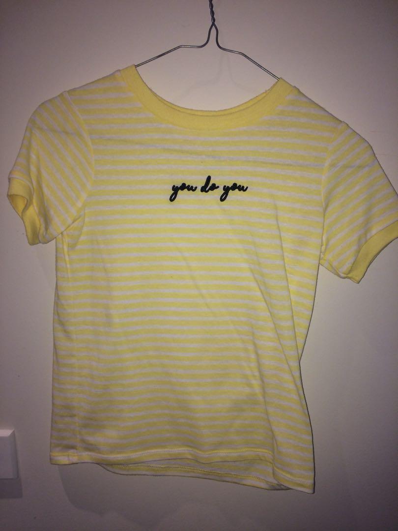 Yellow Text T-shirt