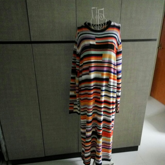 7fa918fe Zara Colorful stripes Knit dress, Women's Fashion, Clothes, Dresses ...