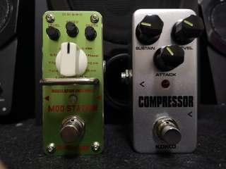 modulation and compressor guitar pedal