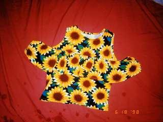 Sunflower Off shoulder - Crop top
