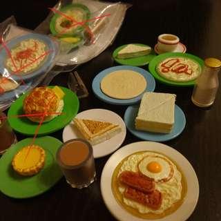 扭蛋 茶餐廳 E . F . 營養早餐 三款 香港冰室 (購物每滿 $60 換購一份) <話明換購都仲要問單買, 要單買每份$60另$5平郵費>