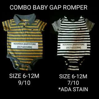 Combo Baby Gap Rompers