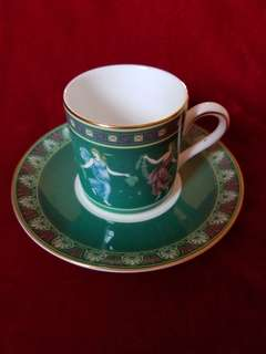 "Wedgwood Porcelain Coffee Cup and Saucer ""Floral Girls"""