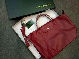Longchamp le pliage cuir leathet