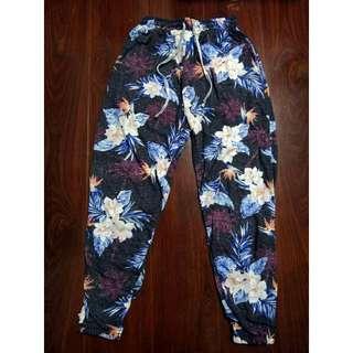 Women's Harem Pants Floral Jogger Cotton Summer Beach