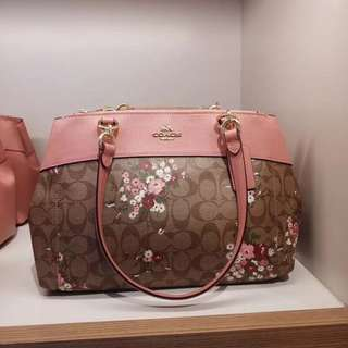 Coach floral brooke carryall