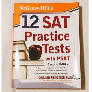 12 SAT Practice Tests with PSAT (McGraw-Hill)