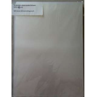 Laminating pouch / sheet A4 size 40 pieces