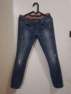 Zara Slim Semi Ripped Jeans