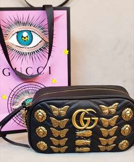 Gucci Marmont GG Matelasse small bag with Animal Studs