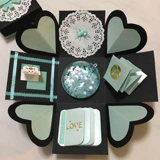 Turquoise Themed Explosion Box