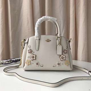 Coach mini sage carryall with floral applique