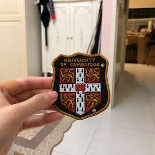 University of Cambridge Iron On Embroidered Patch