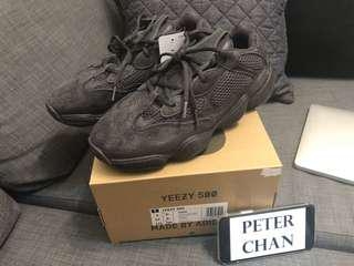 全新中籤貨 Adidas Yeezy 500 Utility Black US9 UK8.5