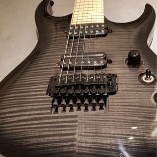 Agile Interceptor 725 MN CP Black Flame 7 String Guitar (Made in Korea)