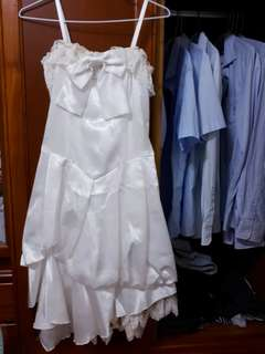 🚚 細肩帶 裙擺不規則禮服