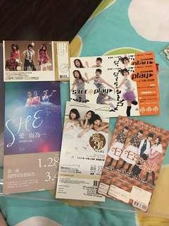 S.H.E albums pre order receipts