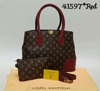 Louis Vuitton Flandrin Monogram Red Color