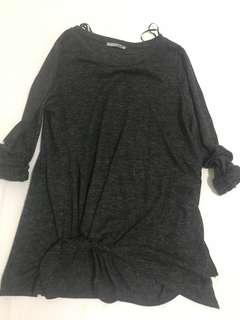 Zara grey blouse
