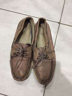 Sepatu kulit leather shoes merk sperry