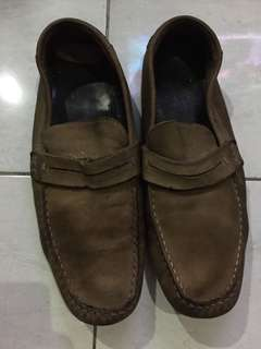 Sepatu kulit leather shoes loafer merk zara ori