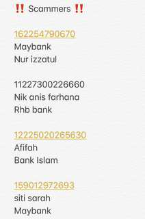 Beware of scammers ‼️