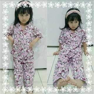 Piyama marycat pink kid