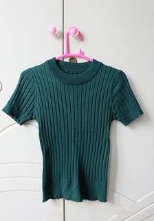 [SUPER PREMIUM BKK TOP]  Green Knitt Top