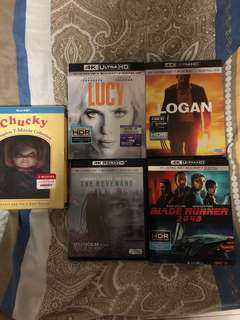 Various ultra HD Blu Ray for sale