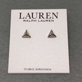 Ralph Lauren Sample Earrings cubic zirconia 金色三角形閃石耳環