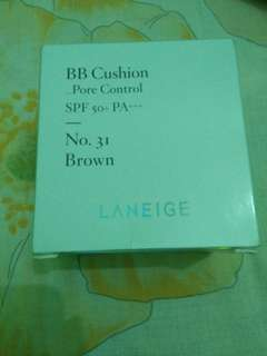 Laneige bb cushion pore control 31 brown