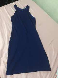 Folded and Hung blue haltered dress