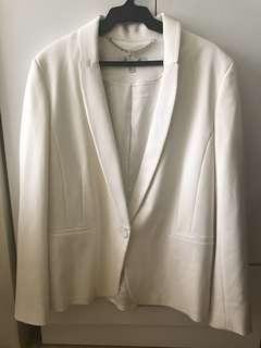 Off white blazer Forever 21