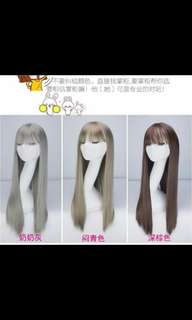(NO INSTOCKS!)Preorder Neat Air bang straight full wig * waiting time 15 days after payment is made* chat to buy to order